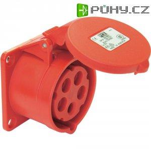 CEE zásuvka 315-6tt PCE, rovná, 16 A, IP44, červená