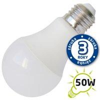 LED žárovka A60, E27/12V DC, 7W (Pc) - bílá teplá (záruka 3 roky)
