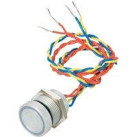 Piezo tlačítko APEM, 24 V DC/AC, 0,2 A, IP 69K, PBAR6AF0254J0G, zelená LED