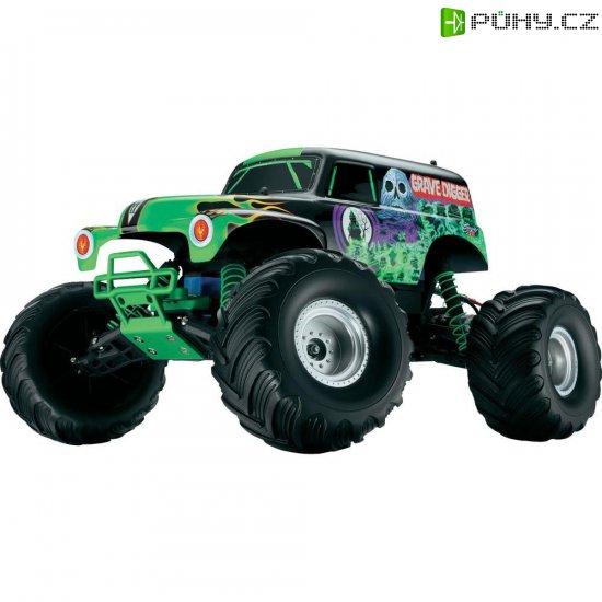 RC model EP Monstertruck Traxxas Grave Digger, 1:10, 2WD, RtR 27 MHz AM - Kliknutím na obrázek zavřete