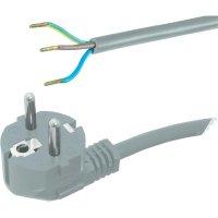 Síťový kabel Hawa, zástrčka/otevřený konec, 1 mm², 2 m, šedá, 1008220