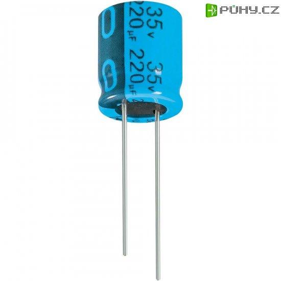Kondenzátor elektrolytický Jianghai ECR1EPT222MFF751625, 2200 µF, 25 V, 20 %, 25 x 16 mm - Kliknutím na obrázek zavřete