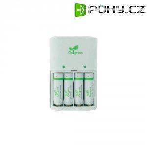 Nabíječka iGO Green + 4x AA RAM akumulátor