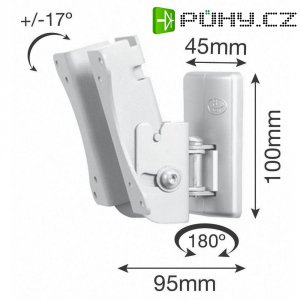 """Nástěnný TV držák B-Tech BT7518/S, 30,48 - 58,4 cm (12\"""" - 23\""""), stříbrná"""