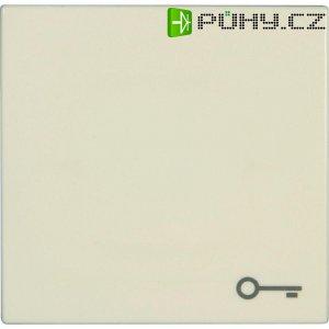 Krytka vypínače se symbolem klíče, Jung, LS 990 T, plast, krémově bílá