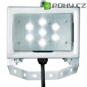 LED reflektor 7x 1 W, studená bílá, IP64, bílá