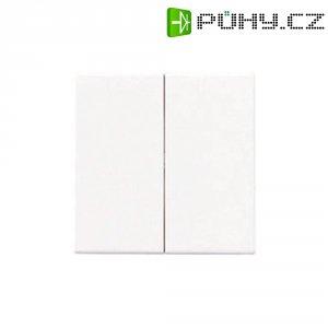 Krytka vypínače Jung, A595WW, dvojitá, bílá