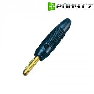 Banánkový konektor 4 mm, BKL Electronic 072150/G, pozlacený, černá