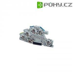 Trojřadá svorkovnice Phoenix Contact 3031869, pružinová, 5,2 mm, šedá