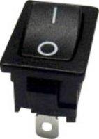 Kolébkový spínač SCI R13-66AA-02 s aretací 250 V/AC, 10 A, 1x vyp/zap, černá, 1 ks