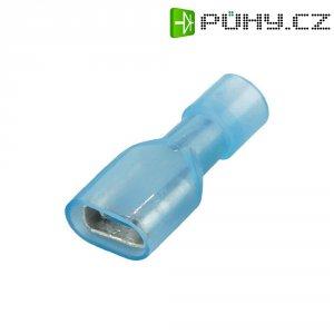 Faston zásuvka Vogt Verbindungstechnik 3966S 6.3 mm x 0.8 mm, 180 °, úplná izolace, modrá, 1 ks