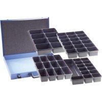 Plechový kufřík, 30 přihrádek, 460 x 350 x 50 mm, modrá