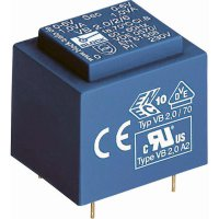 Transformátor do DPS Block EI 30/12,5, 230 V/2x 18 V, 2x 33 mA, 1,2 VA
