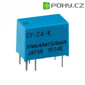 Miniaturní relé série SY Takamisawa SY-12W-K, 150 mW, 1 A , 60 V/DC/120 V/AC 60 VA