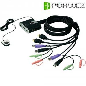 KVM switch Aten pro USB a HDMI Grafik s přenosem zvuku, 2-portový