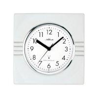 Analogové DCF nástěnné hodiny 683/4, 21 x 21 cm, bílá