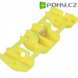 Zářezová svorka TE Connectivity, 735411, 4 - 6 mm², 2pólová, žlutá