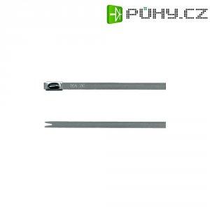 Ocelové stahovací pásek H-Tyton MBT20S-316-SS-NA-C1 670 N 1, 521 mm x 4,6 mm