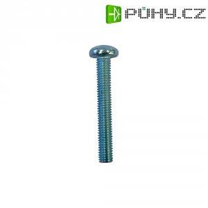 Čočkový šroub TOOLCRAFT 839882, M2,5 DIN 7985, 12 mm, ušlechtilá ocel, 20 ks