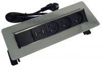 HBF 760080 vestavný panel - lišta se 3 zásuvkami 230 V a USB