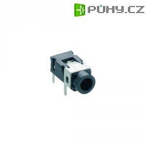 Jack konektor 3,5 mm stereo Lumberg 1503 08, zásuvka vestavná horizontální, 3pól., černá