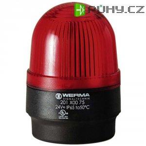 Bleskové světlo Werma, 202.100.68, 230 V/AC, 30 mA, IP65, červená