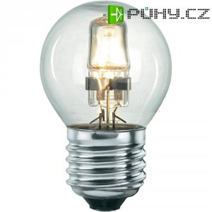 Halogenová žárovka Sygonix, E27, 18 W, 76 mm, stmívatelná, teplá bílá