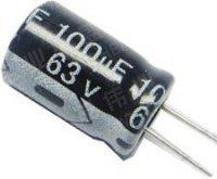 100u/63V 85° 8x13x3,5mm, elektrolyt.kondenzátor radiální