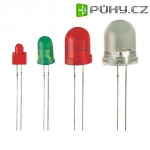 LED dioda kulatá s vývody Kingbright BLINK LED, HPR, L-816BSRC-B, 10 mm, červená