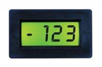 Panelové měřidlo 199,9mV PM438EL LCD voltmetr panelový digitální podsvícené