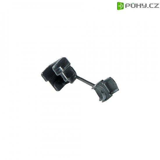 Kabelová průchodka PB Fastener 132-7677-001, 15,9 x 14 x 14,7 x 1,6 mm, černá - Kliknutím na obrázek zavřete