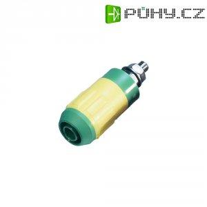 Laboratorní konektor Ø 4 mm MultiContact XUB-G (66.9684-000-20), zás. vest. vert., zelžlut