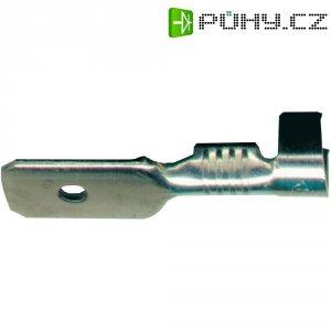Faston konektor Vogt Verbindungstechnik 379908.60, šířka 2.8 mm bez izolace, kov, 1 ks