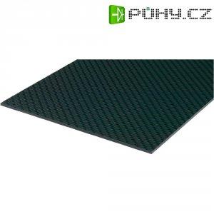 Uhlíková prepreg deska 150 x 340 x 2 mm