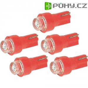 LED žárovka pro osvětlení přístrojů Eufab, 13291, 1,2 W, T5, červená, 5 ks
