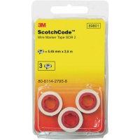 Náhradní role kabelového značení 3M Scotchcode 80-6114-2800-6, bílá/černá, 3 role