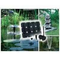 Solární zahradní fontána Solar Trend Novita, 01240, 750 l/h, 1 m