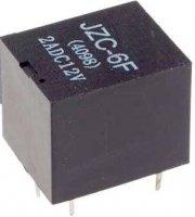 Relé JZC-6F (4098) 12V, kontakty 28VDC/2A (230VAC/1A)