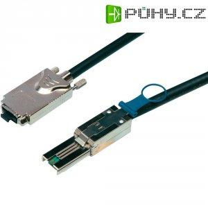 Kabel pro HDD 1x Infiniband SAS (SFF-8470) ⇒ 1x mini SAS (SFF-8088), 1 m