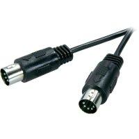 Připojovací kabel SpeaKa, DIN/cinch, zástr. 5-pól., černý, 1,5 m