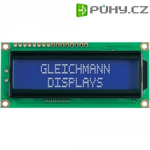 LED modul Gleichmann, GE-C1602B-TMI-JT/R, 13,2 mm, bílá/modrá
