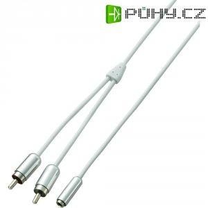 Připojovací kabel SpeaKa, cinch/jack zástr. 3.5 mm, bílý, 1 m