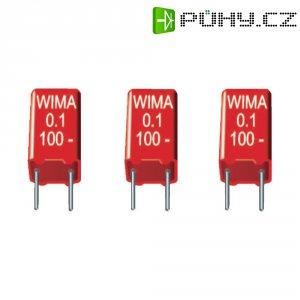 Foliový kondenzátor MKS Wima, MKS2, 0,1 µF, 400 V/DC, 20 %, 7,2 x 7,2 x 13 mm