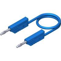 Měřicí silikonový kabel banánek 4 mm SKS Hirschmann CO MLN 50/2,5, 0,5 m, modrá