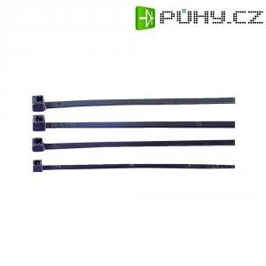 Stahovací pásky HellermannTyton UB100A-B-PA66-BK-C1, 100 x 2,5 mm, 100 ks, černá