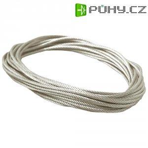 Neizolované lanko Paulmann, 97905, 4 mm2, 10 m, transparentní/šedá