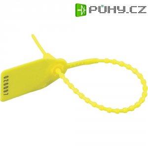 Perličkový stahovací pásek se štítkem HellermannTyton RL350-PE-RD-M0, žlutá