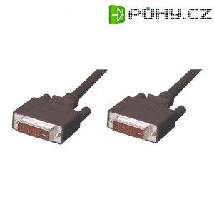 DVI kabel, DVI zástrčka 24+5pol., černý 5 m