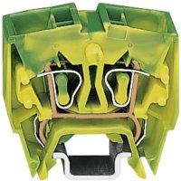 Svorka s ochr. vodičem Wago 264-727, 4pól., pružinová, 10 mm, zelenožlutá
