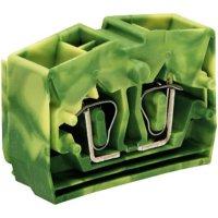 Svorka středová 4vodičová Wago 264-357, s přip. přírubou, pružinová, 10 mm, zelenožlutá